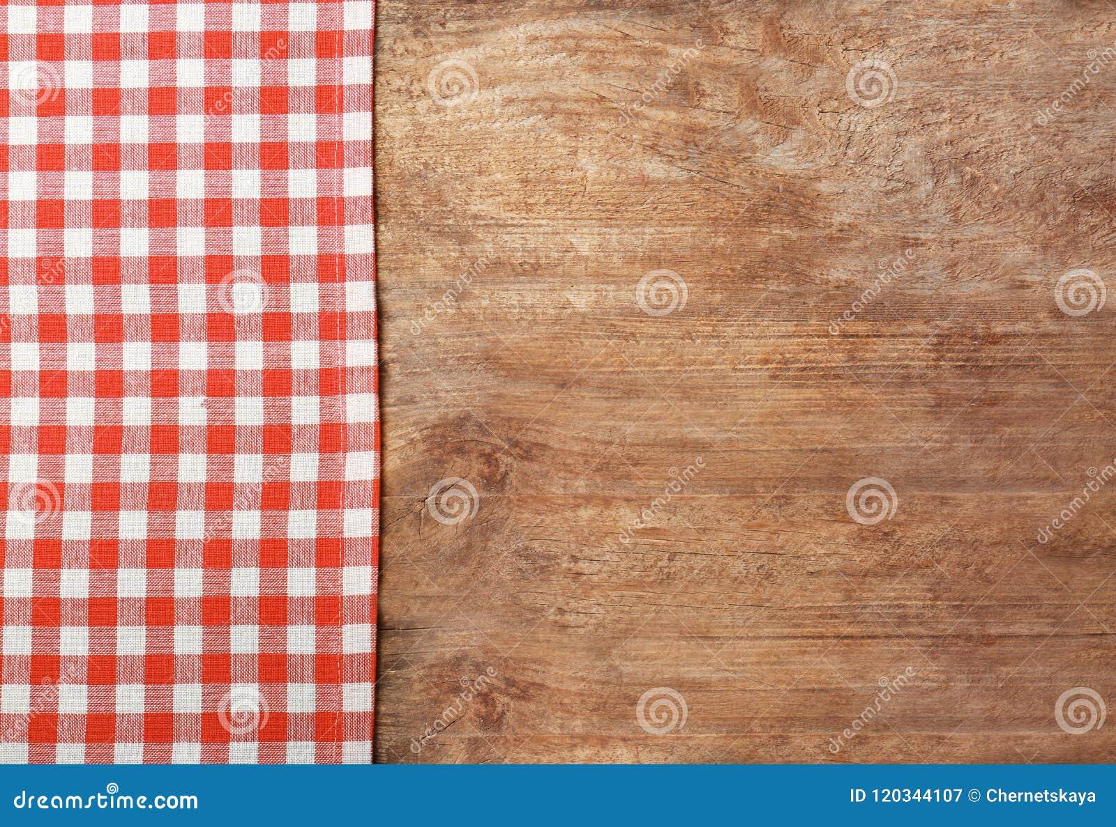 Tablecloth checkered vermelho