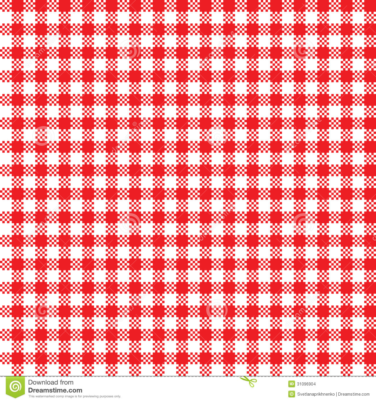 Tablecloth Pattern Stock Vector Illustration Of Snack