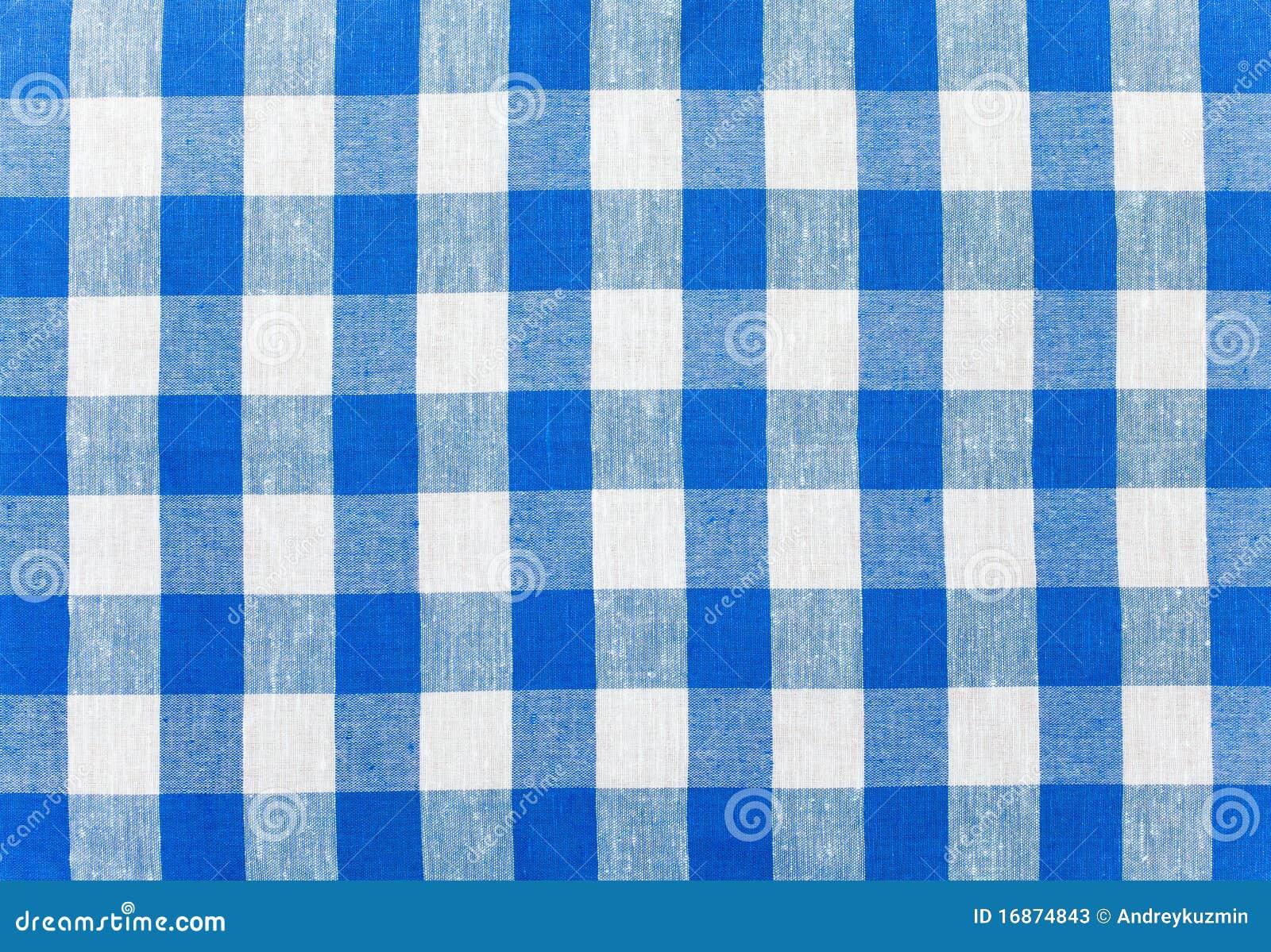 Tablecloth verific azul da tela