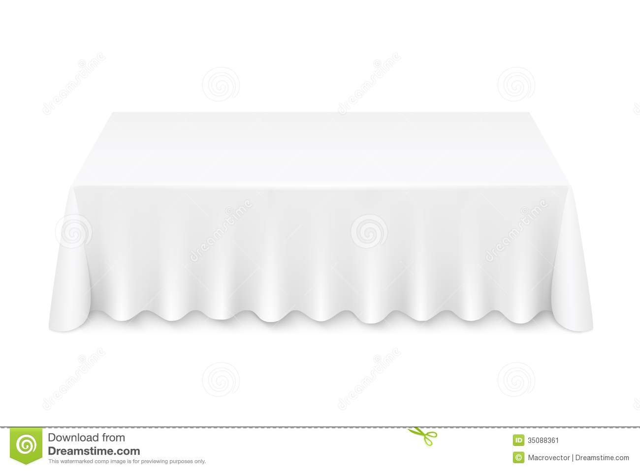 Tablecloth Stock Image Image 35088361