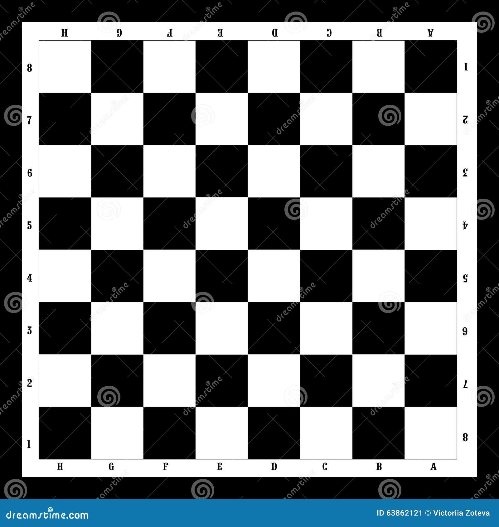 Tablero de ajedrez blanco y negro imagen de archivo imagen 63862121 - Tablero blanco ...