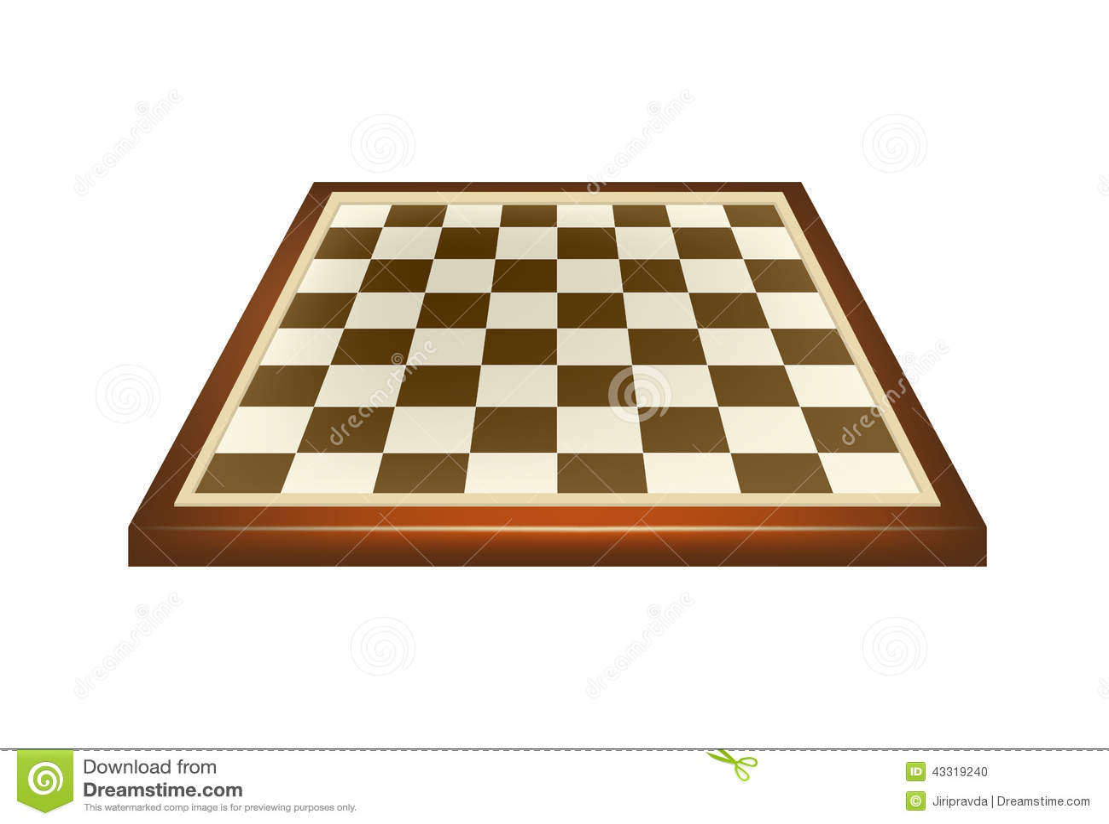 Tablero de ajedrez vacío en diseño marrón