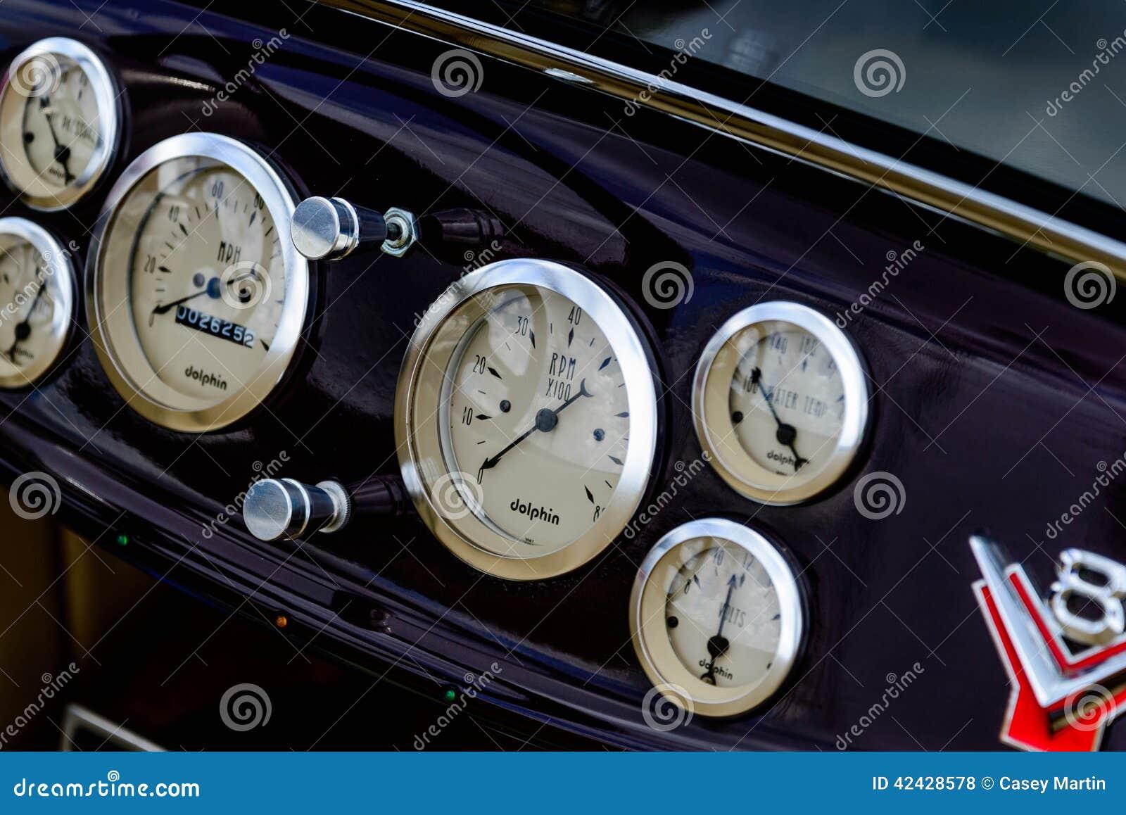 Tablero de instrumentos del coche del equipo del automóvil descubierto del vado de los años 30