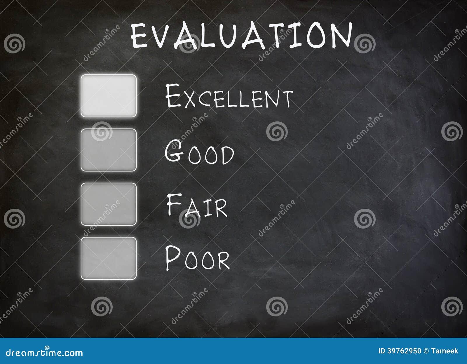 Tablero de la lista de control de la evaluación