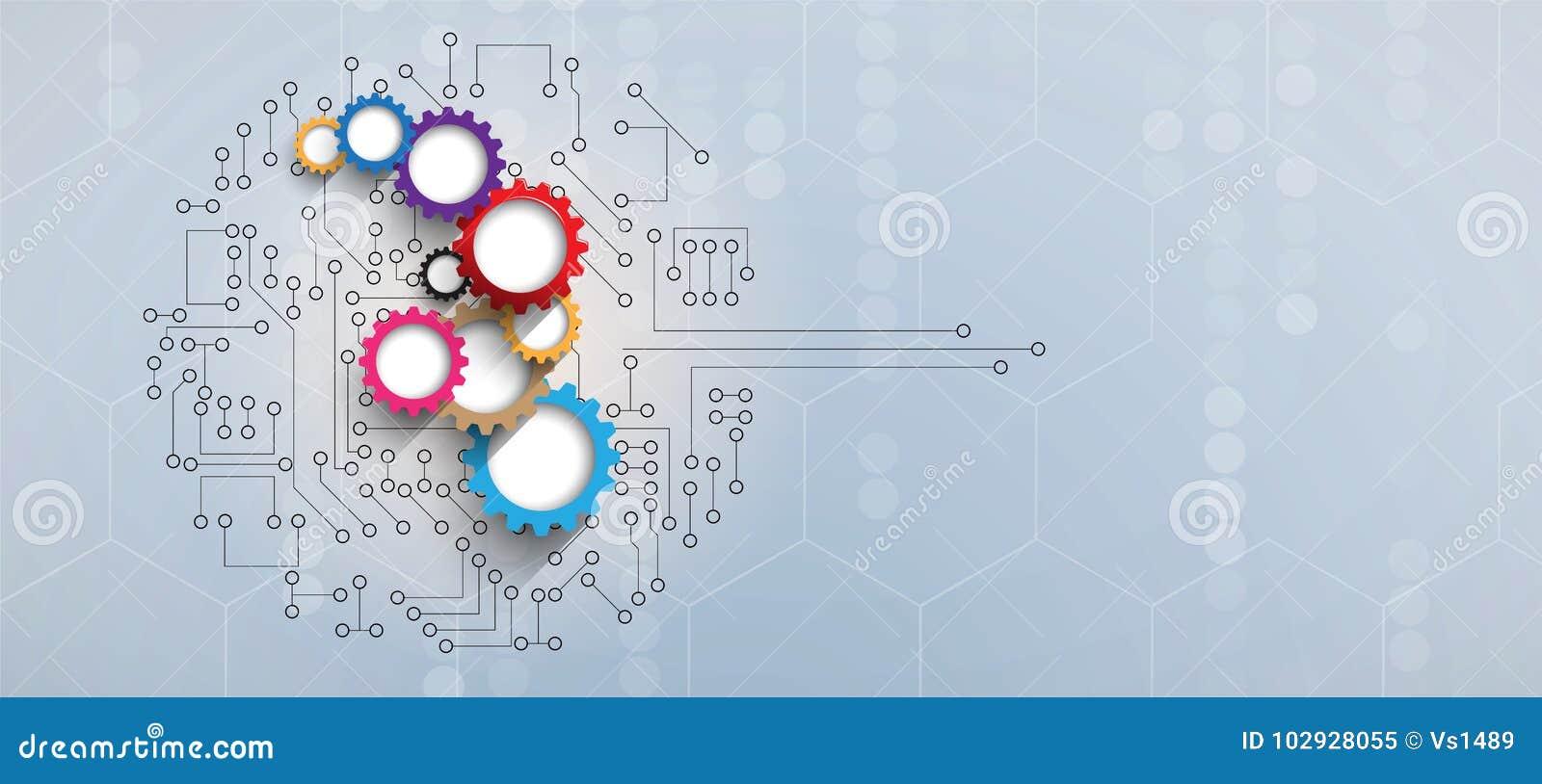 Tablero futurista abstracto b de la tecnología de Internet del ordenador del circuito
