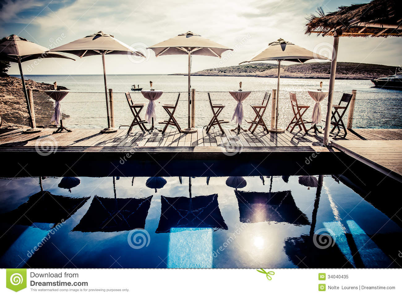 Tables On The Deck Royalty Free Stock Photo Image 34040435