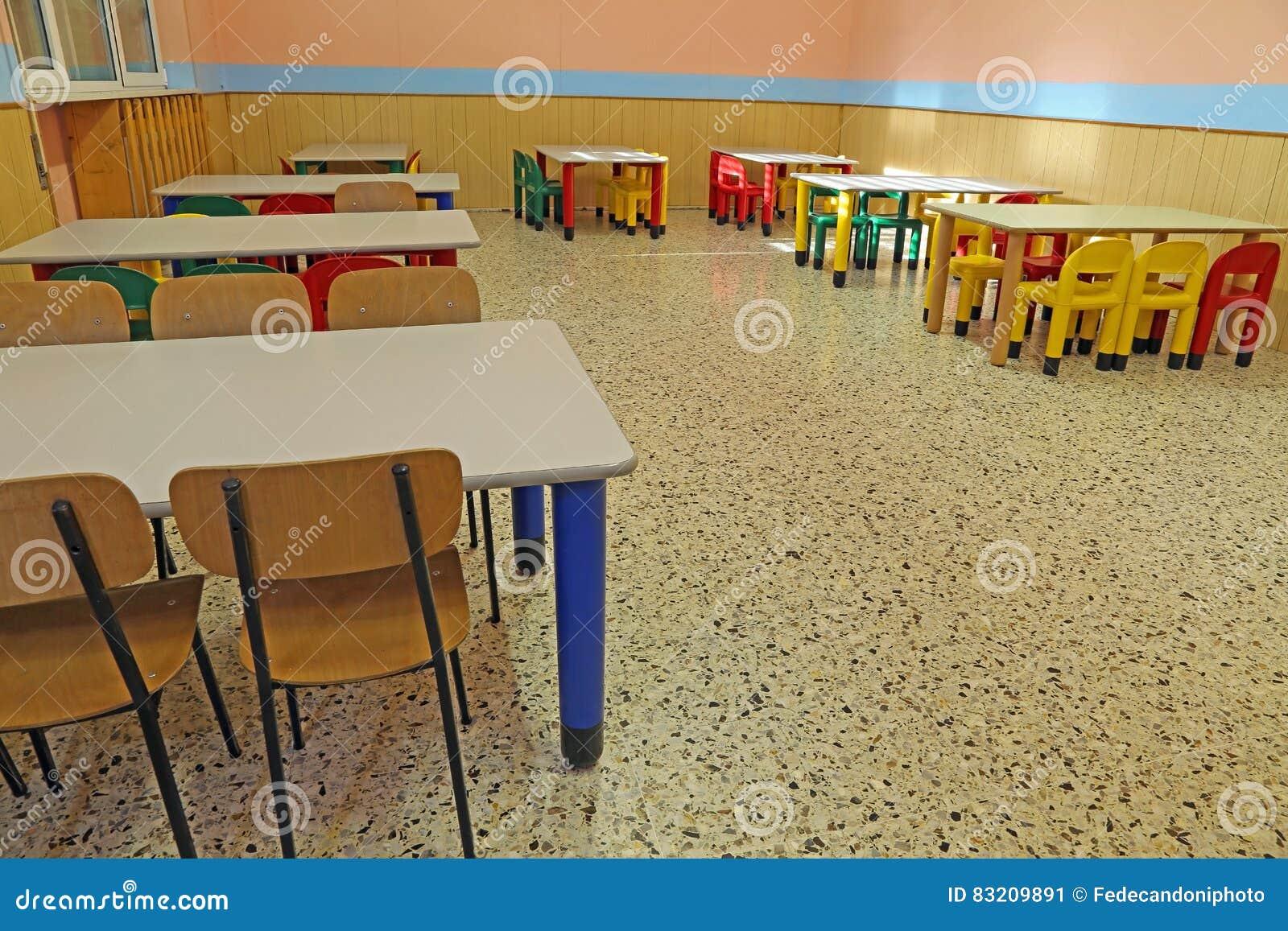 Tables Et Chaises De Rfectoire Dans Un Jardin D Enfants