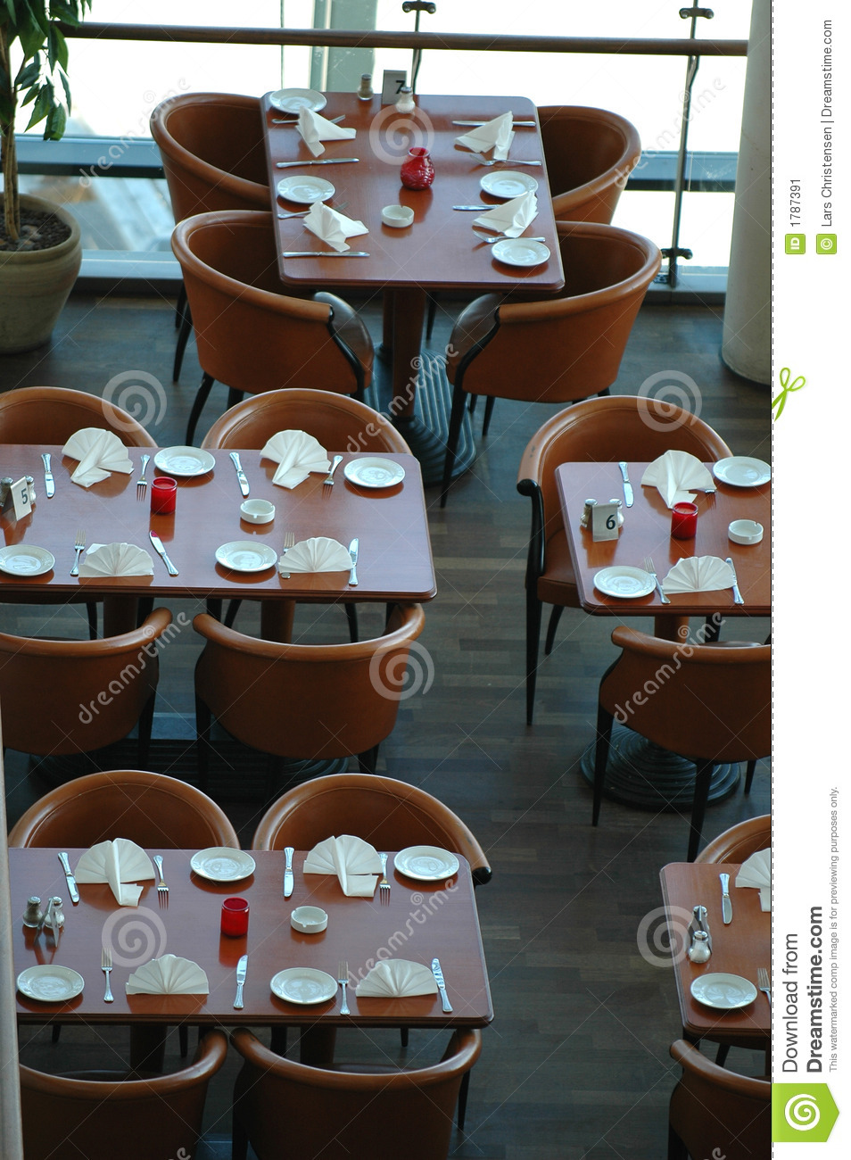 Tables in a resturant