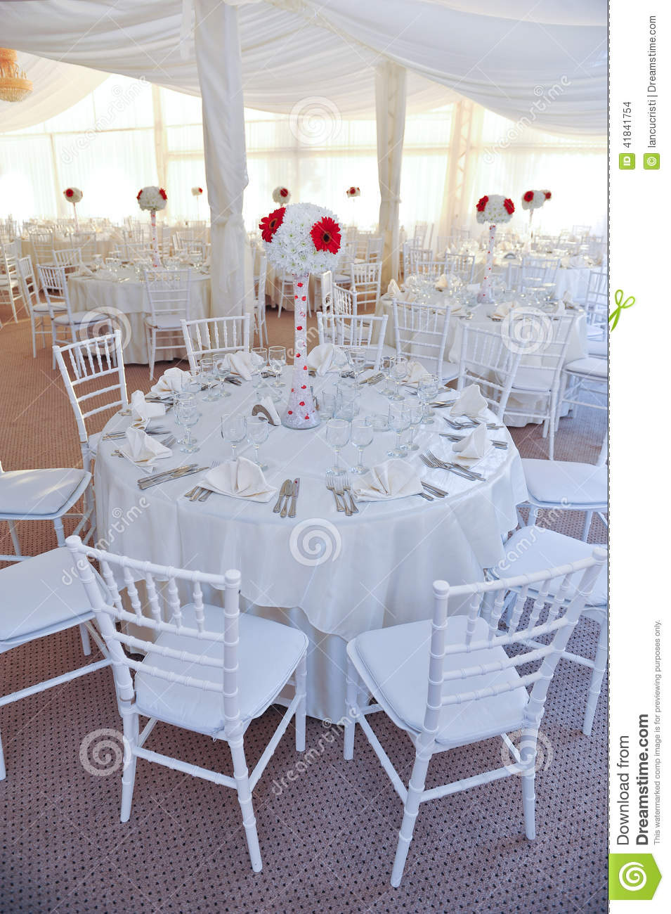 Tables Set For An Event Party Or Wedding Reception Stock Photo ...