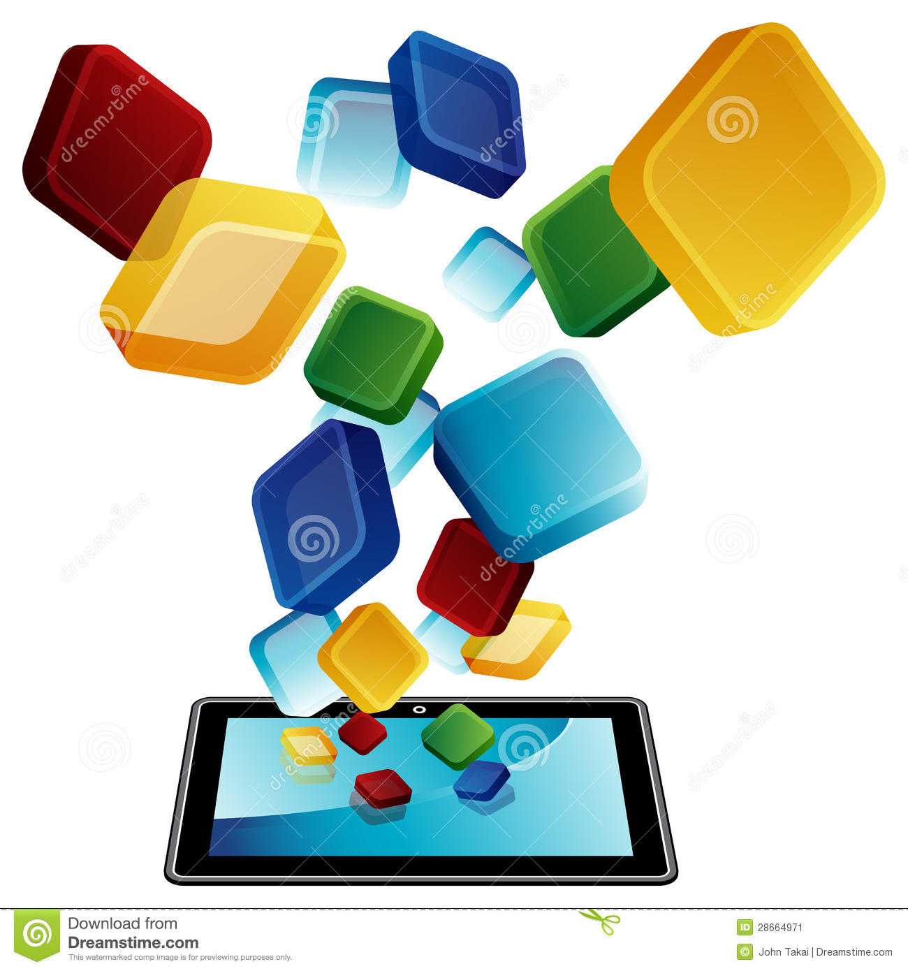 Tablet Apps Stock Image - Image: 28664971