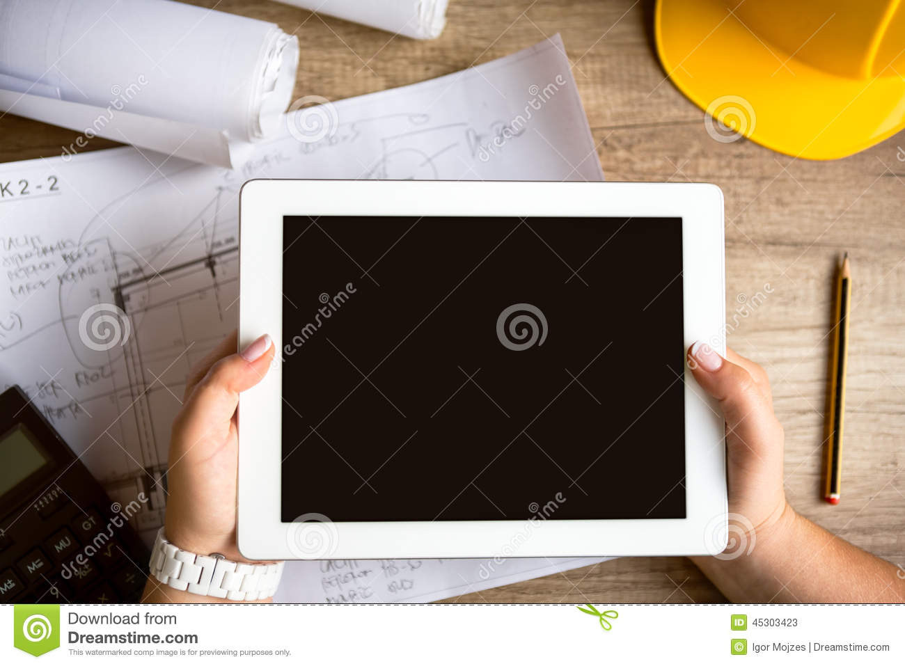 tablet architecture equipment stock photo image  tablet architecture equipment