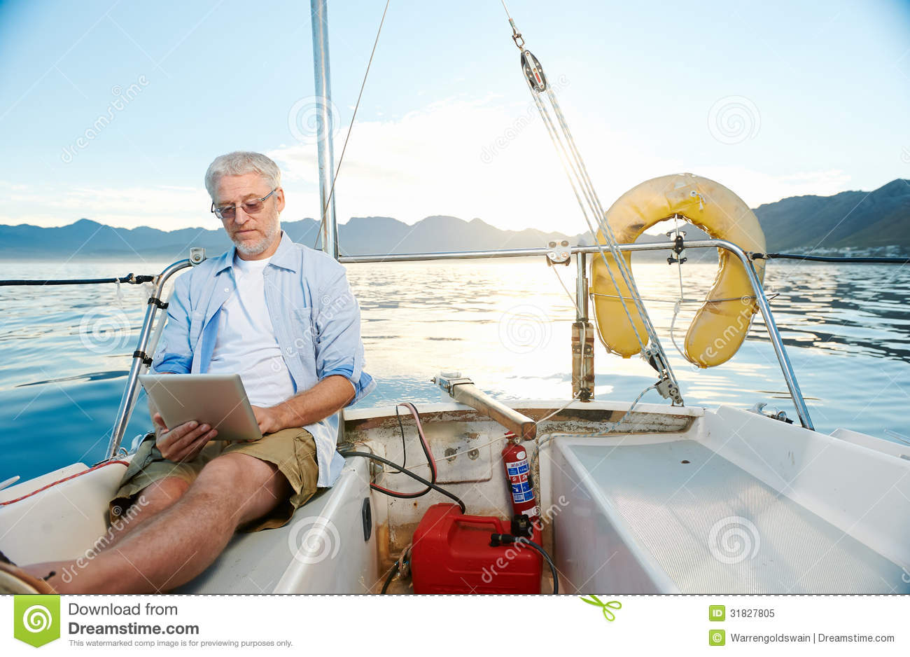 Worksheet Reading Boat tablet computer on boat royalty free stock photo image 31827805 boat