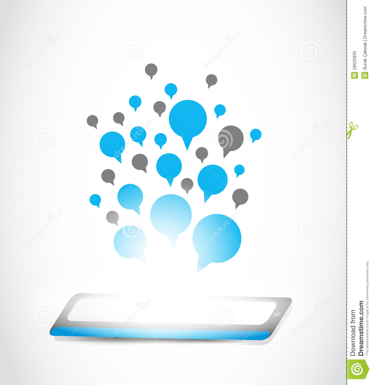 Tablet Computer Communication Technology Stock Photo ...