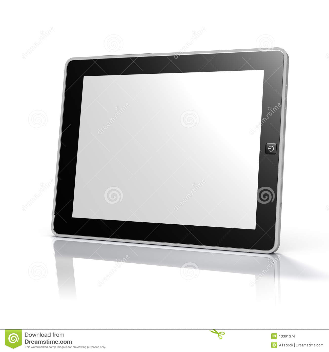 tablet computer ebook reader clipping path royalty free stock image. Black Bedroom Furniture Sets. Home Design Ideas