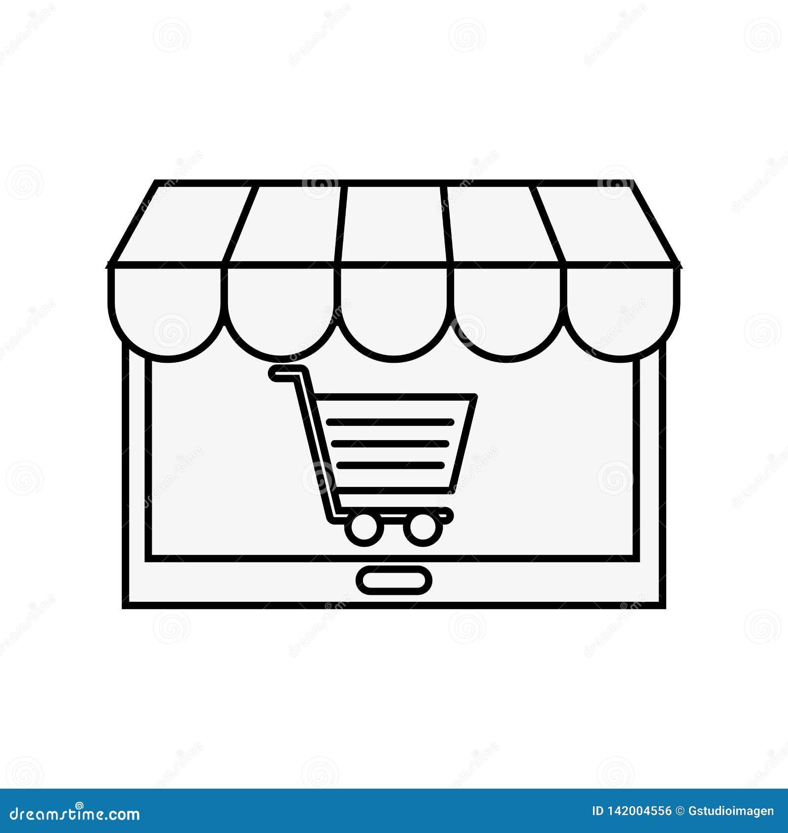Tablet-Computer-Markt-on-line-Einkaufswagen