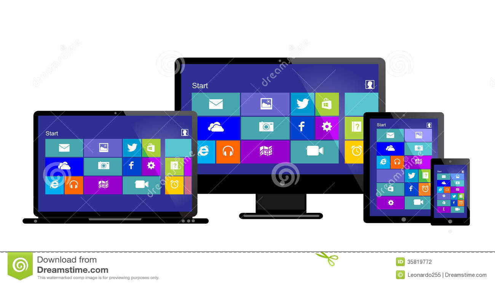 Windows 8 computer - Editorial Stock Photo