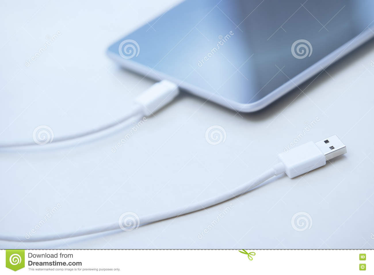 Tablet computer with USB cable