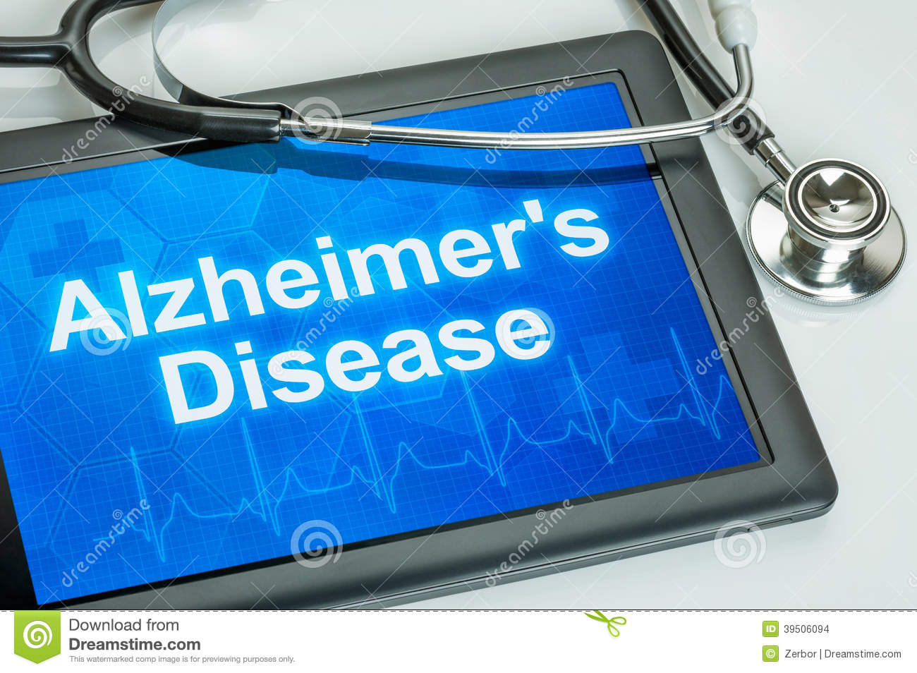 Tablet with the diagnosis alzheimer s disease