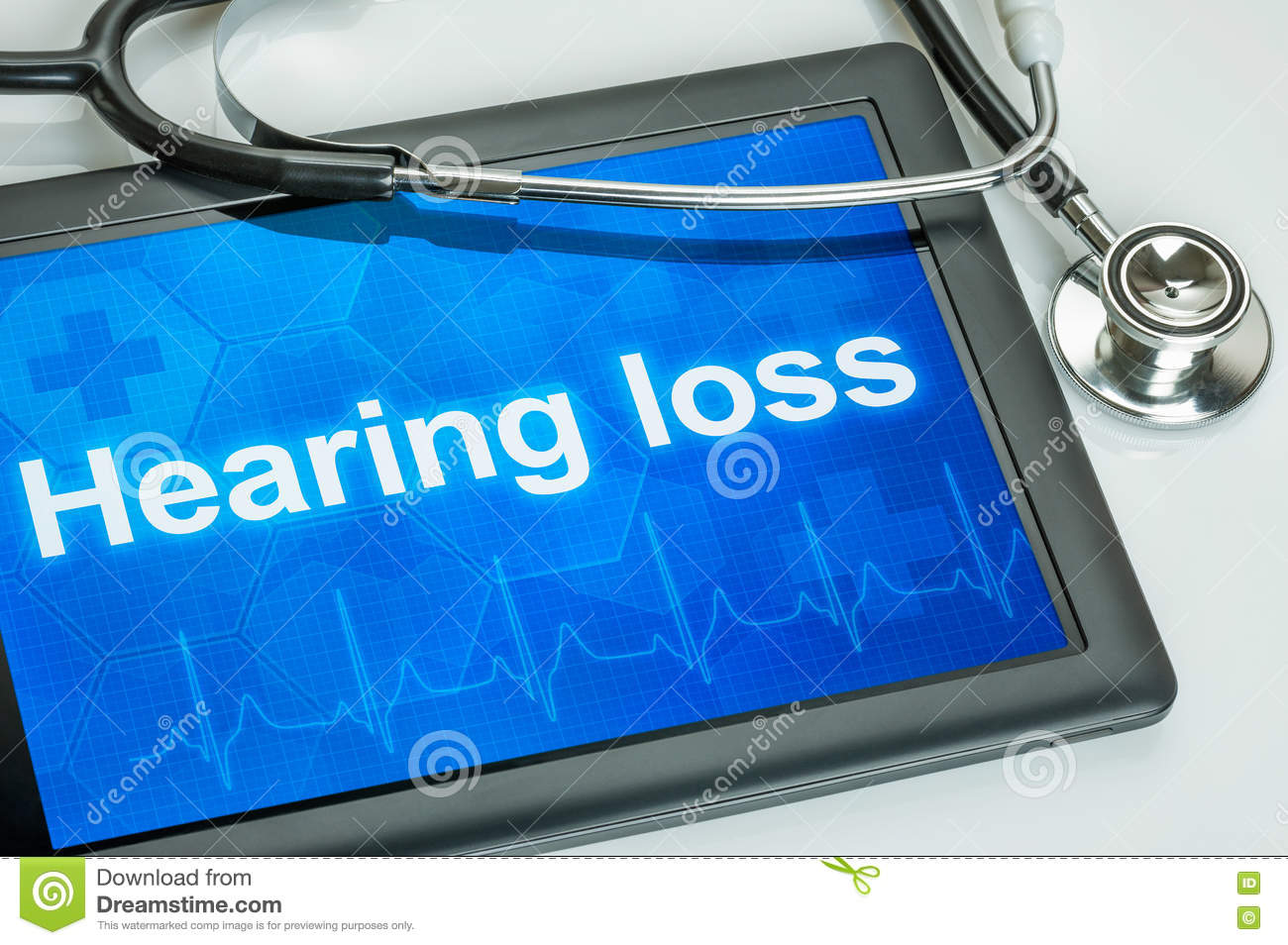 Tablet with the diagnosis Hearing loss
