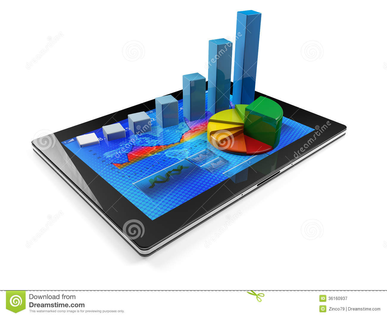 Tablet With Graph Royalty Free Stock Photography Image