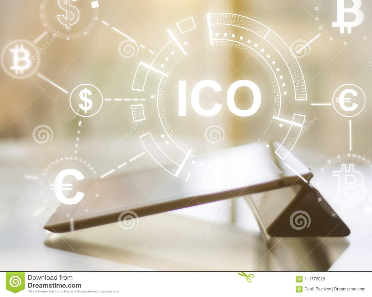 Tablet with ICO hologram