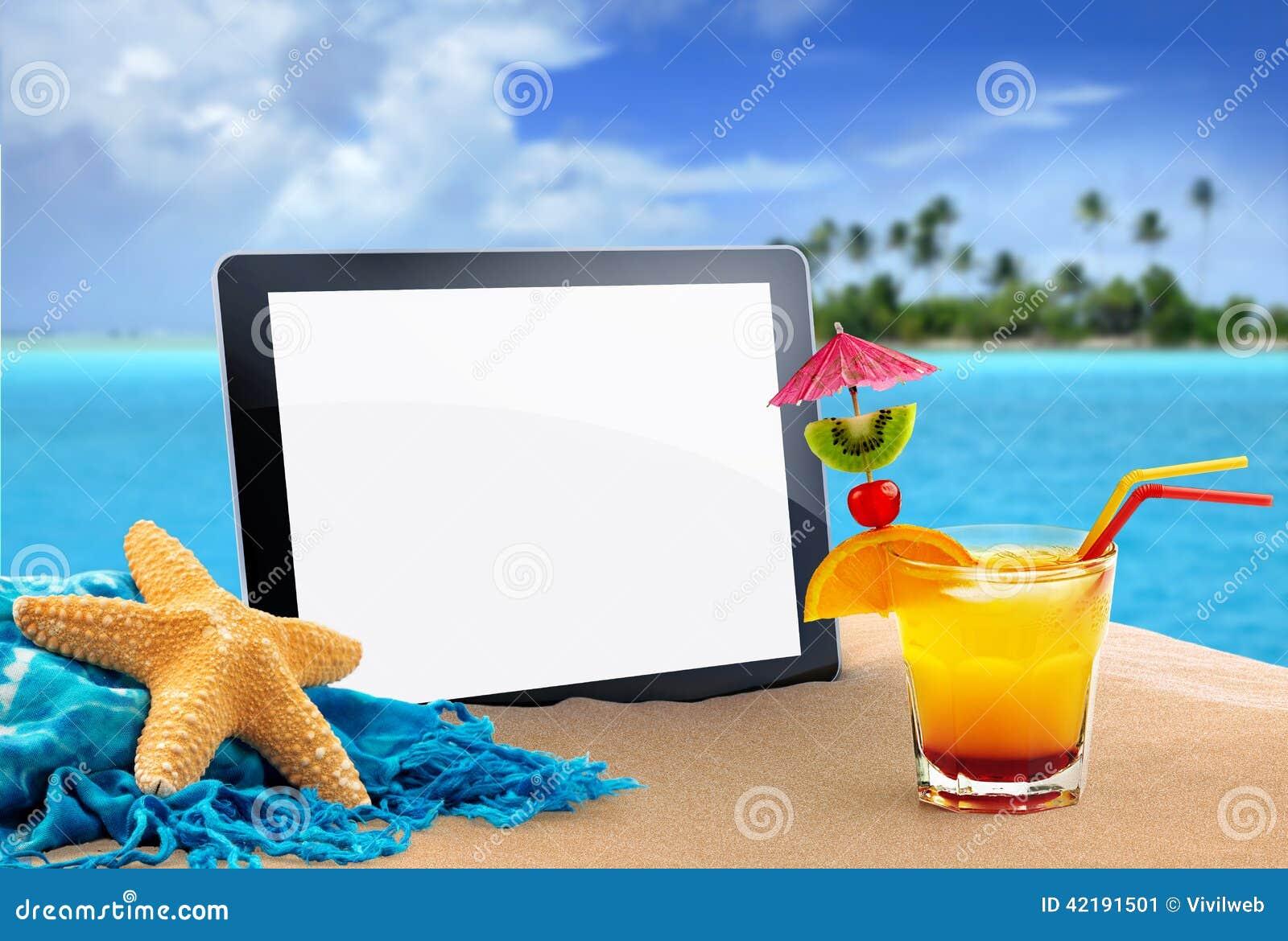 Tablet im Sand