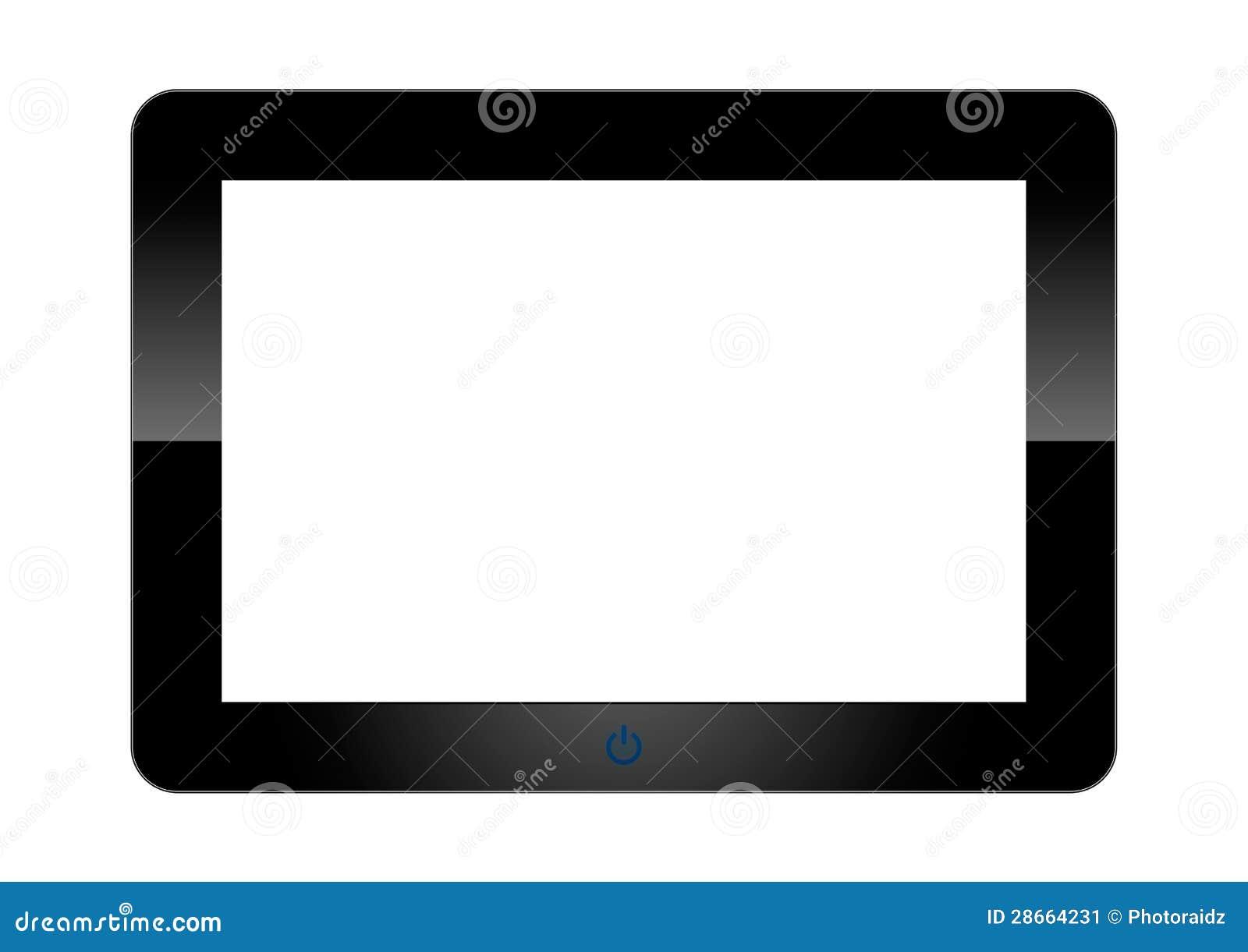 Tablet pc en el fondo blanco imagen de archivo imagen for Fondos para tablet