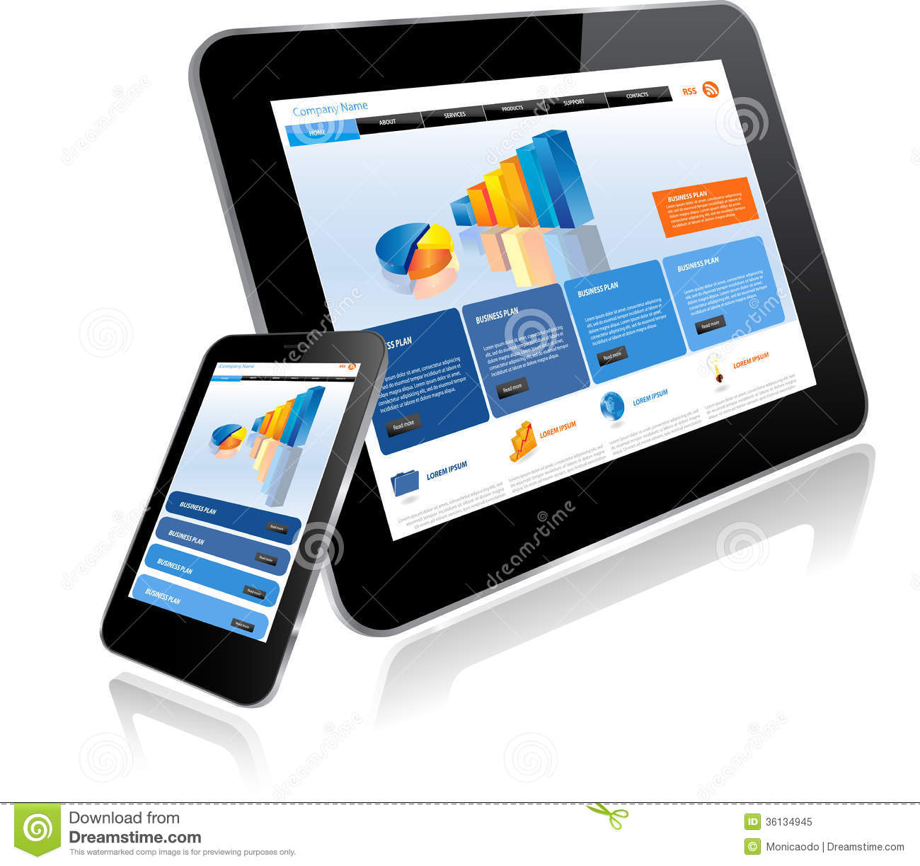 Tablet PC And Smart Phone Royalty Free Stock Photo