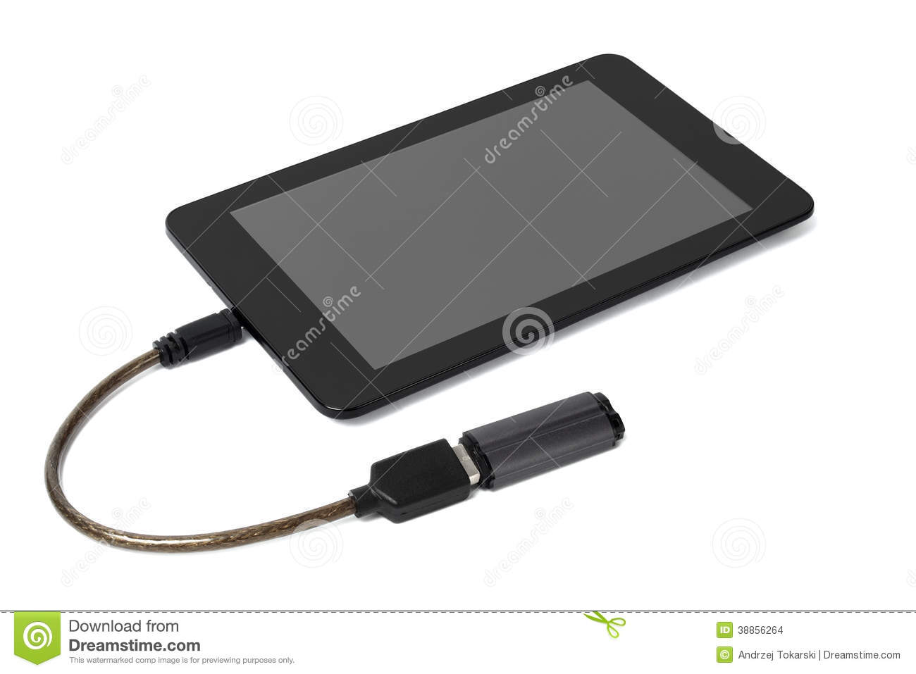 Tablet with pen drive stock photo. Image of computer - 38856264