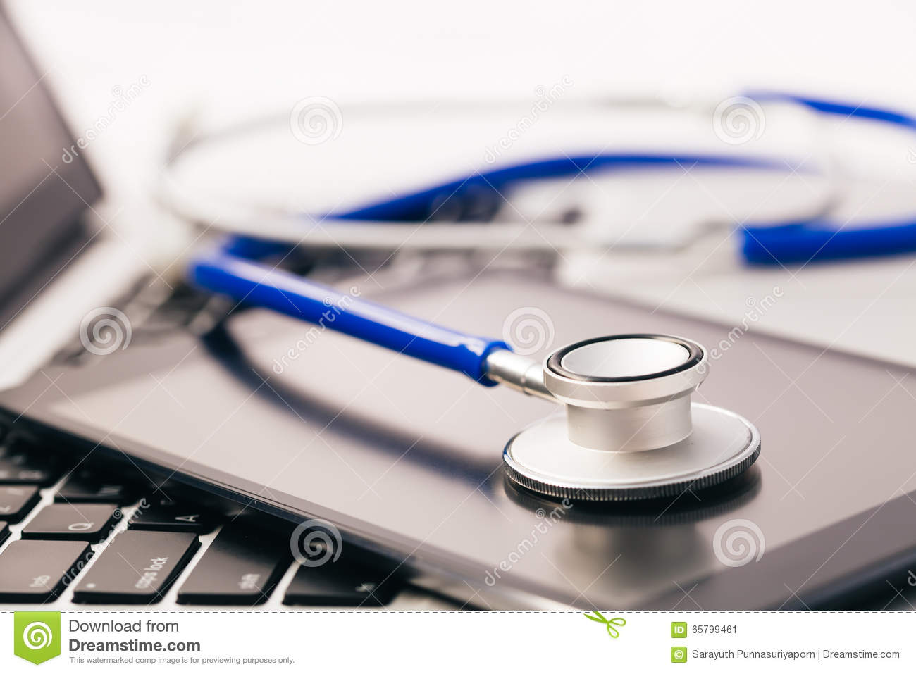 Tablet / Phablet being diagnosed by stethoscope - phone repair a