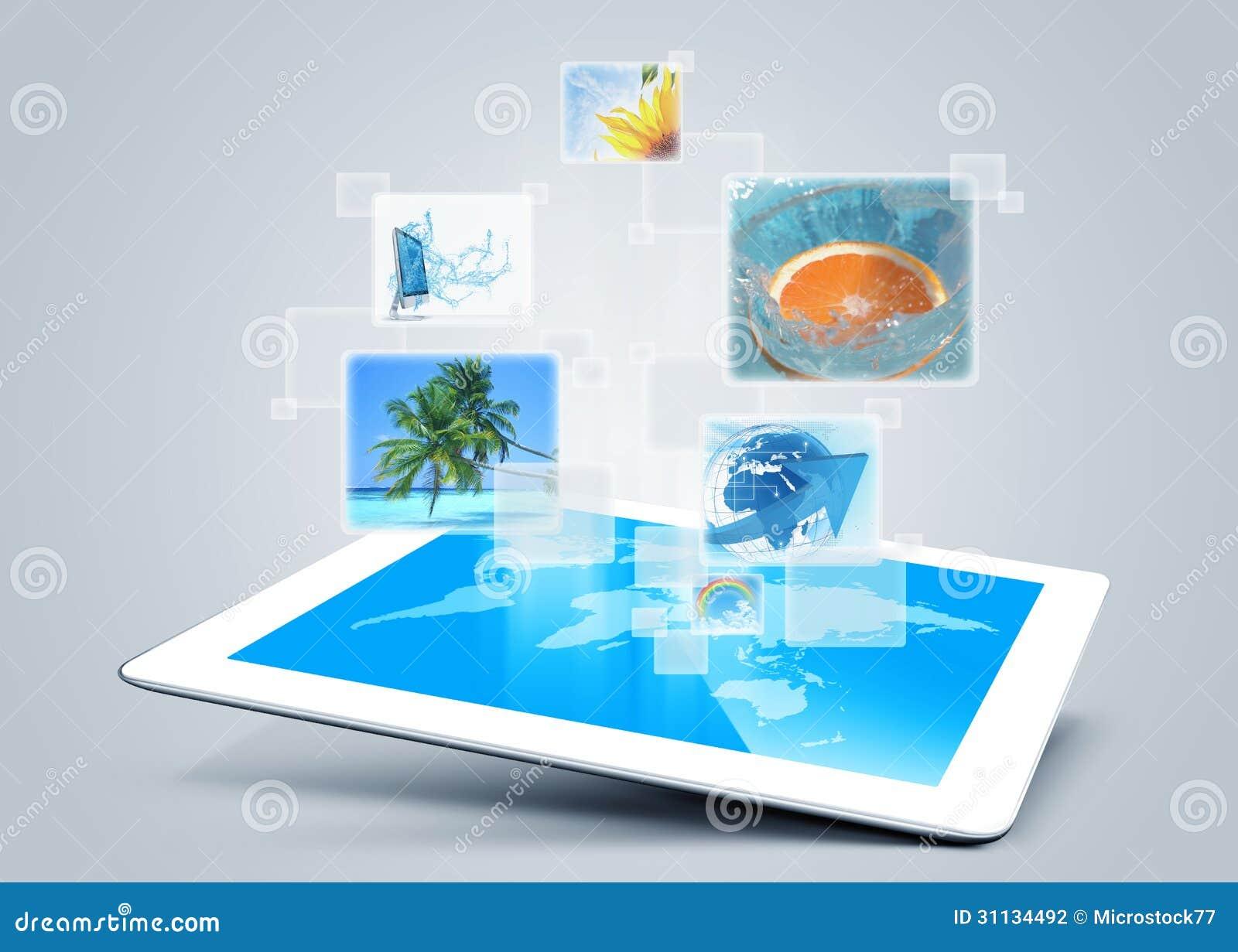 Tablet tecnology background