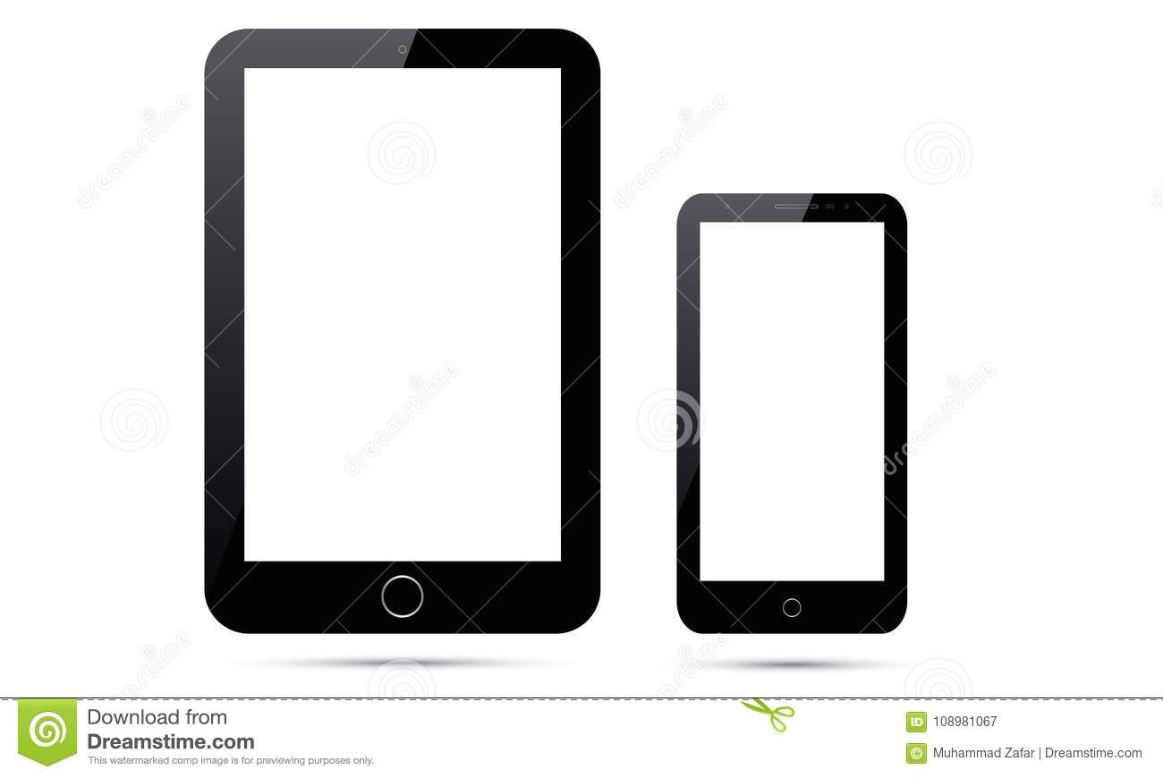 Tablet Vektor-Androids Ipad und Handy Vektor-Androids Smart