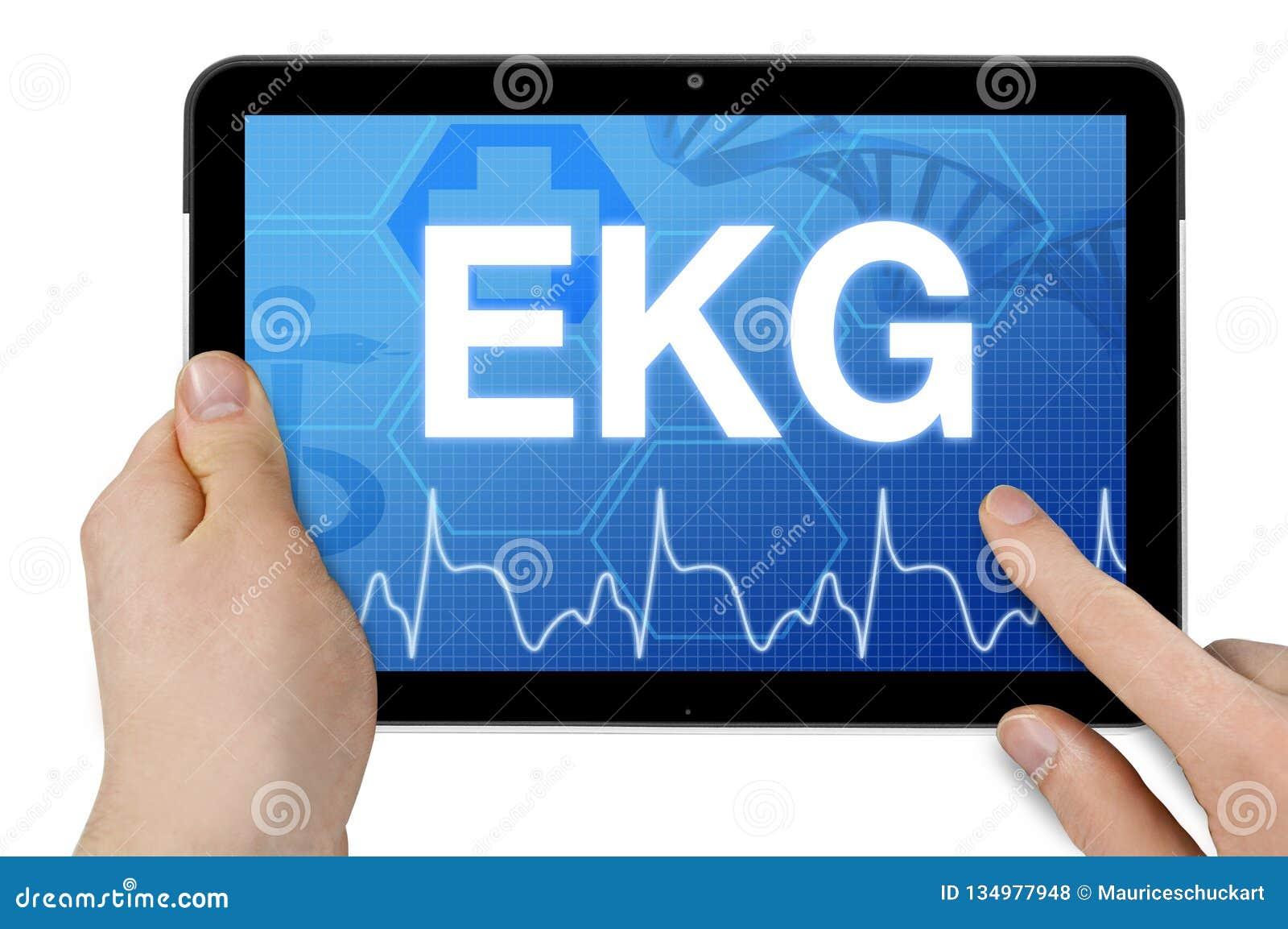 Tableta con la forma corta alemana para ECG - ECG