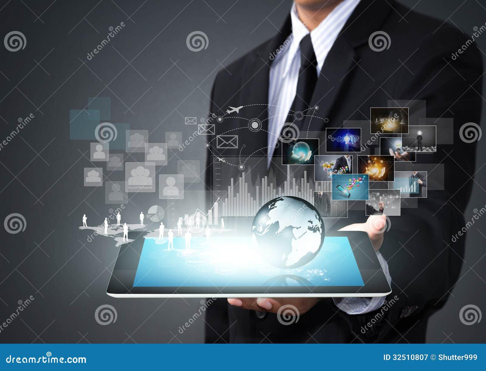 Tableta de la pantalla táctil con nueva tecnología