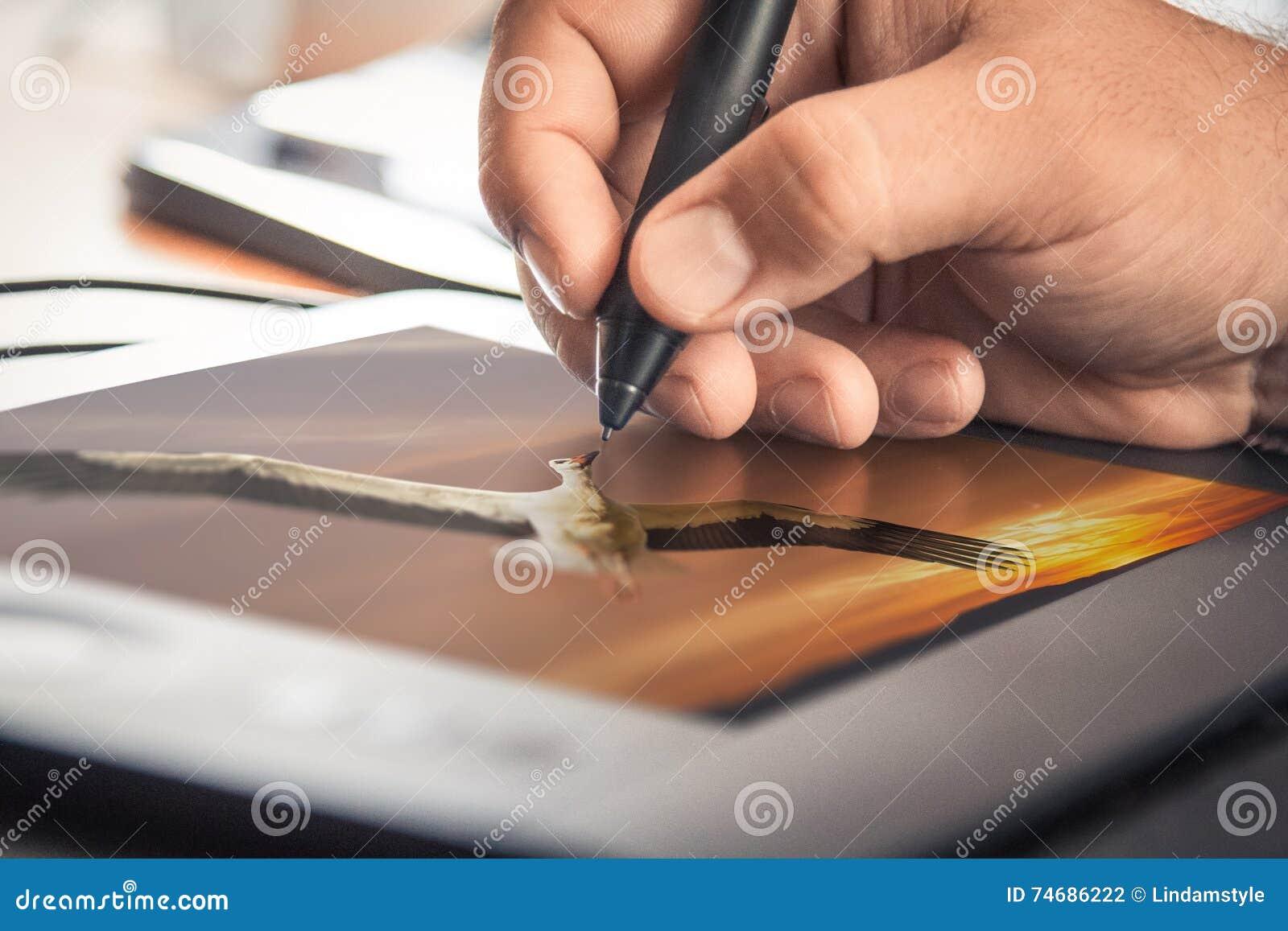 Tableta del diseño gráfico