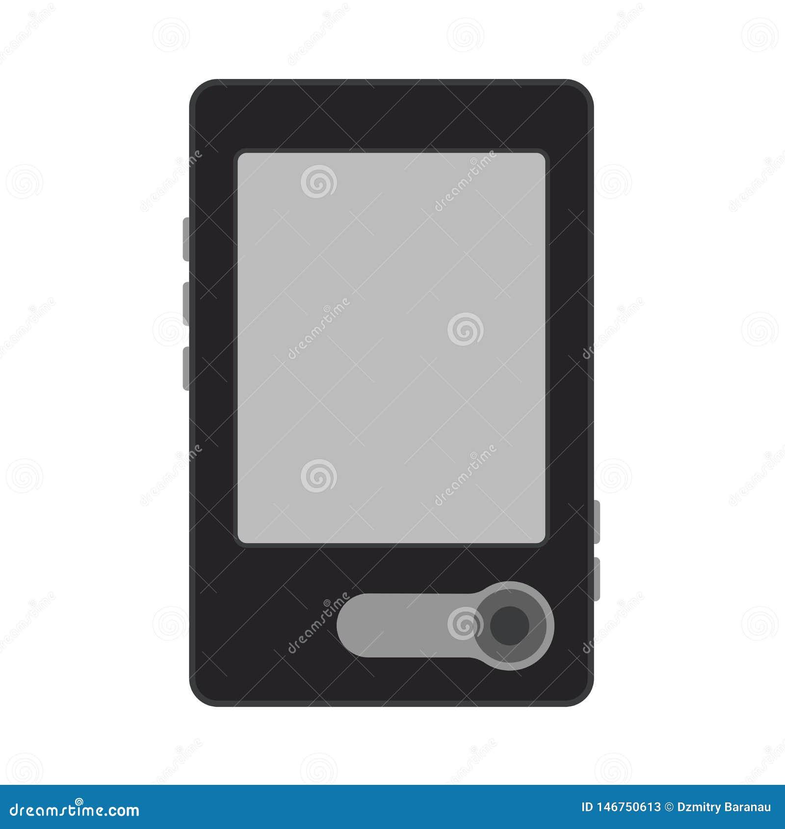 Tableta electrónica del icono del vector de la educación de la pantalla del lector del libro Aprendizaje del dispositivo de la bi