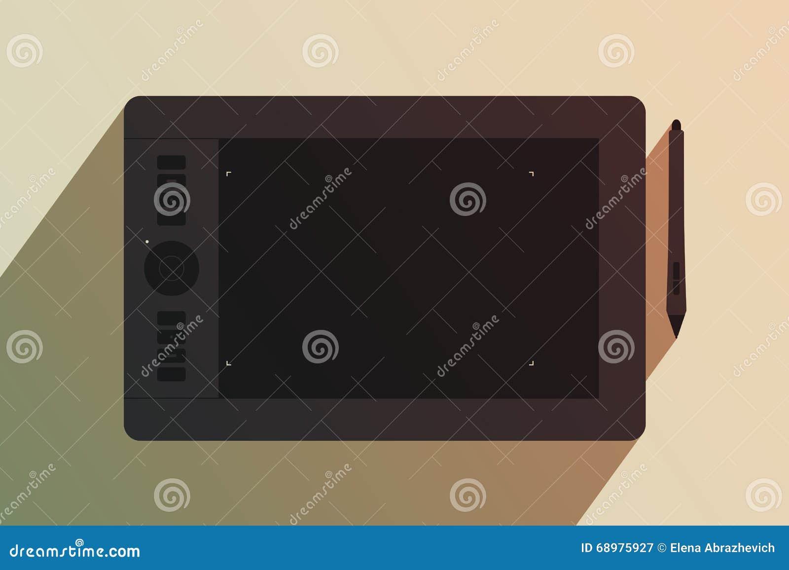 Tableta gráfica y aguja