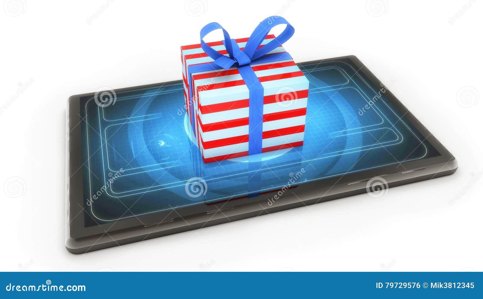 Tableta y regalo de la Navidad