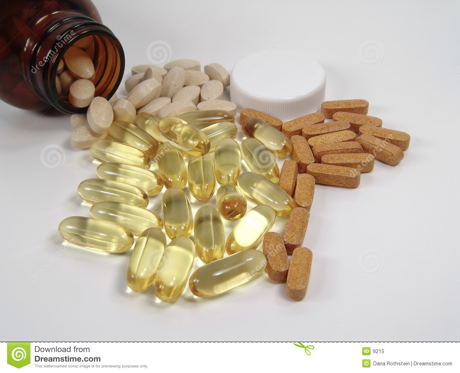 Tabletki różnych butelek