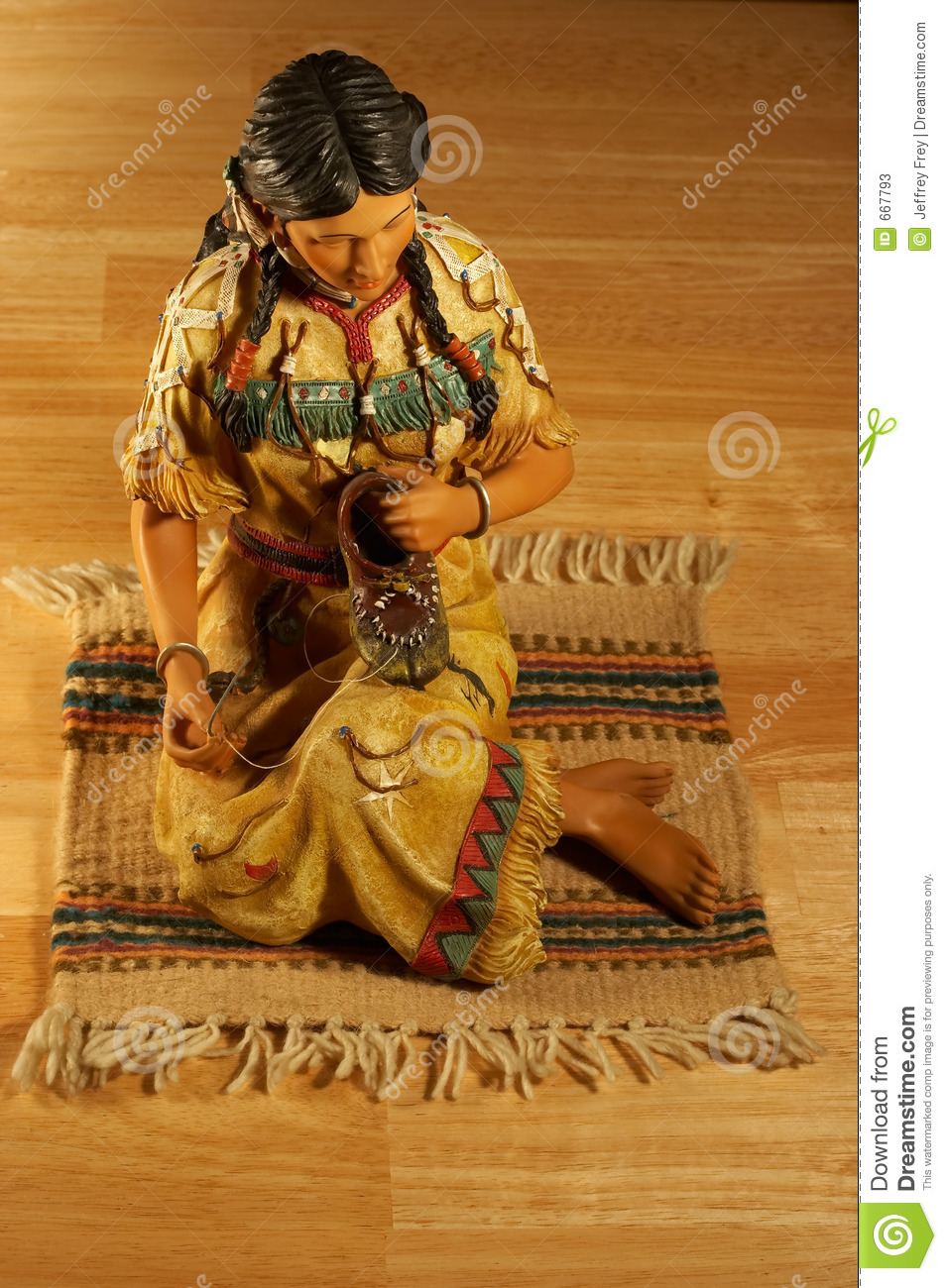 Tabletop Native American Sculpture Stock Image Image 667793