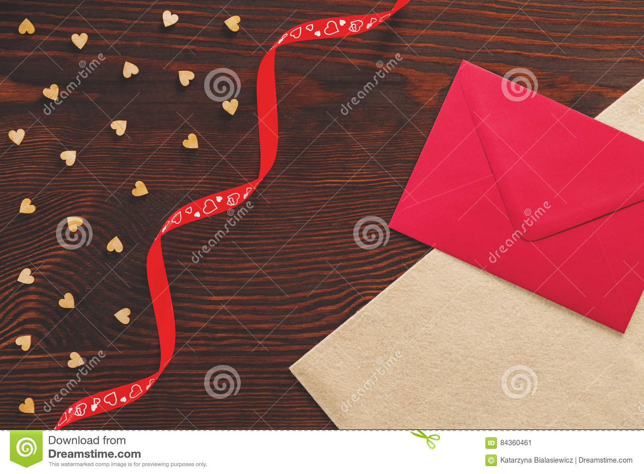 Tabletop with Valentine card
