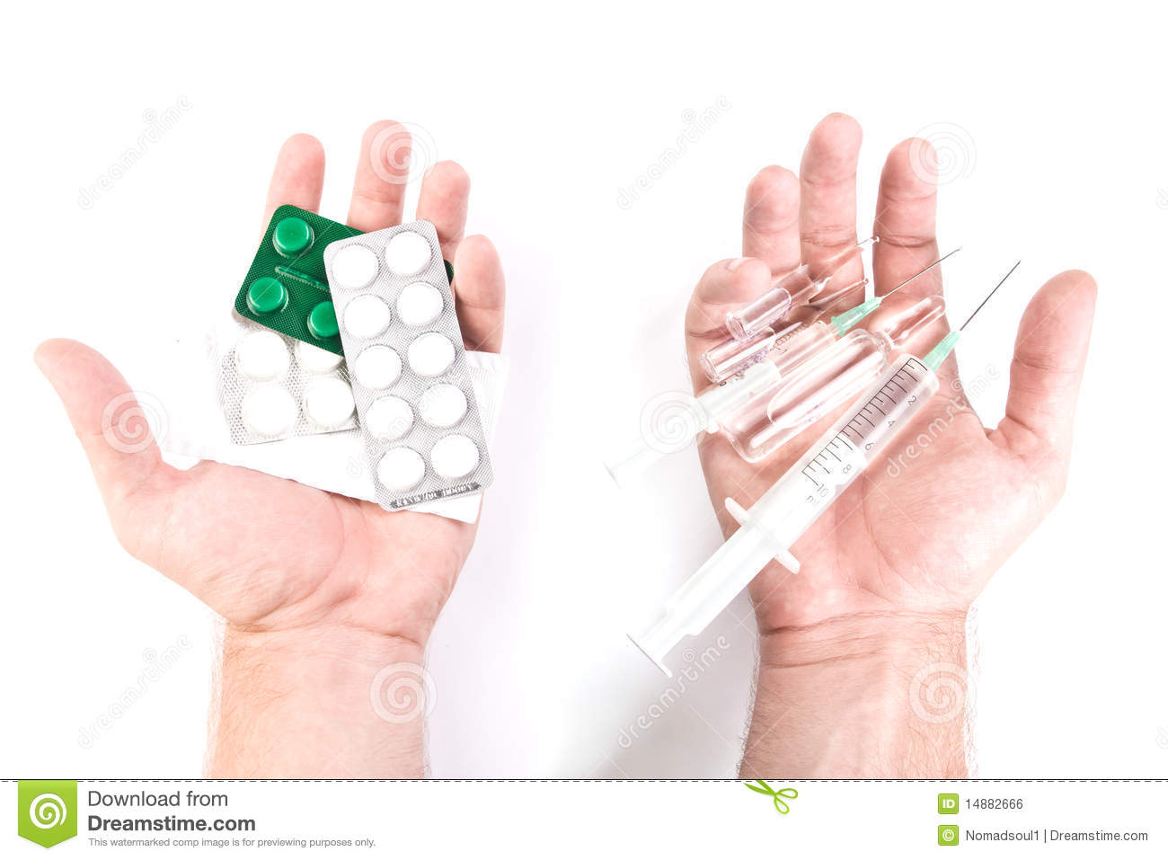 Tablets Or Injections Royalty Free Stock Image - Image