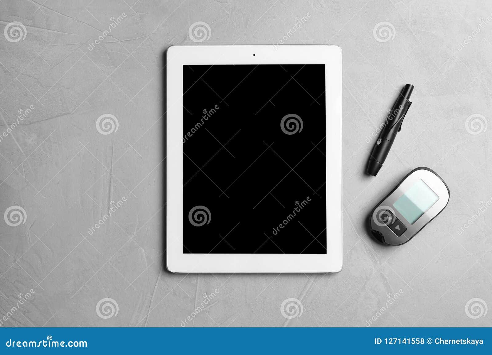 Tablette avec l espace pour le texte et les dispositifs médicaux