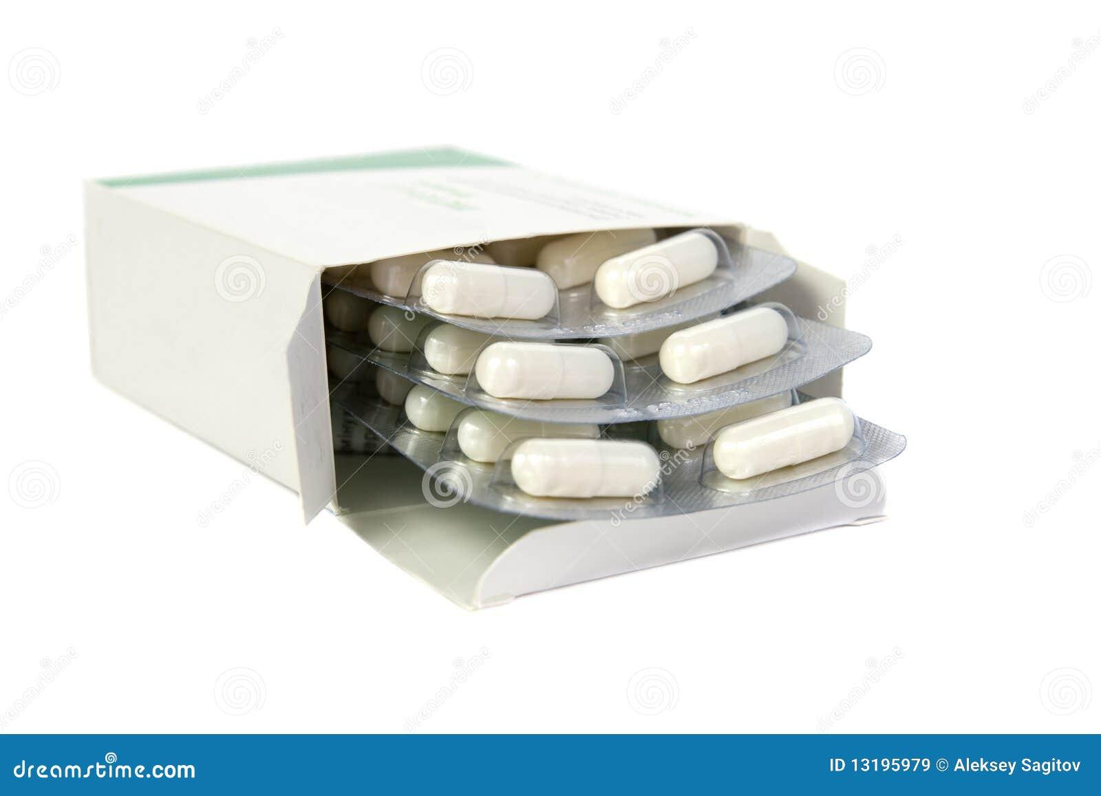 Tabletten in een pakket.
