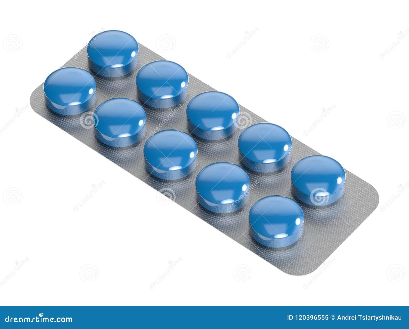 Tabletten in pakket De vrouw overhandigt de zieke plaats het 3d teruggeven