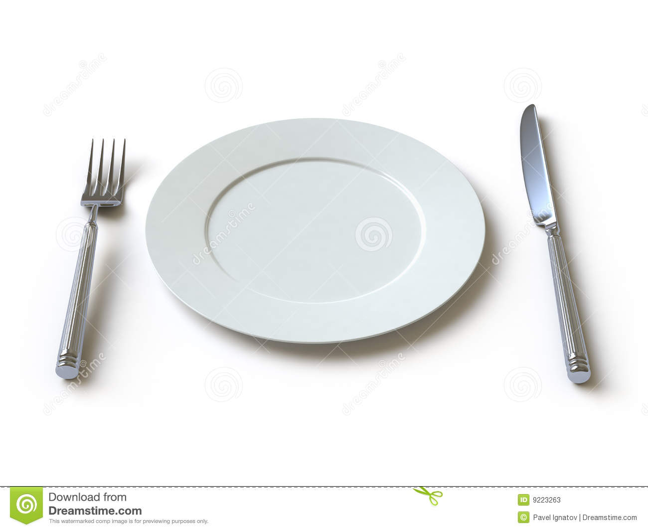 Tableware Collection Push Here Stock Illustration