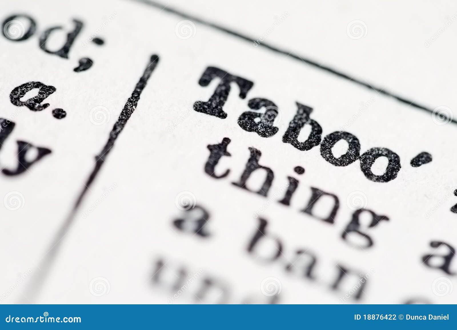 Taboo woord in woordenboek