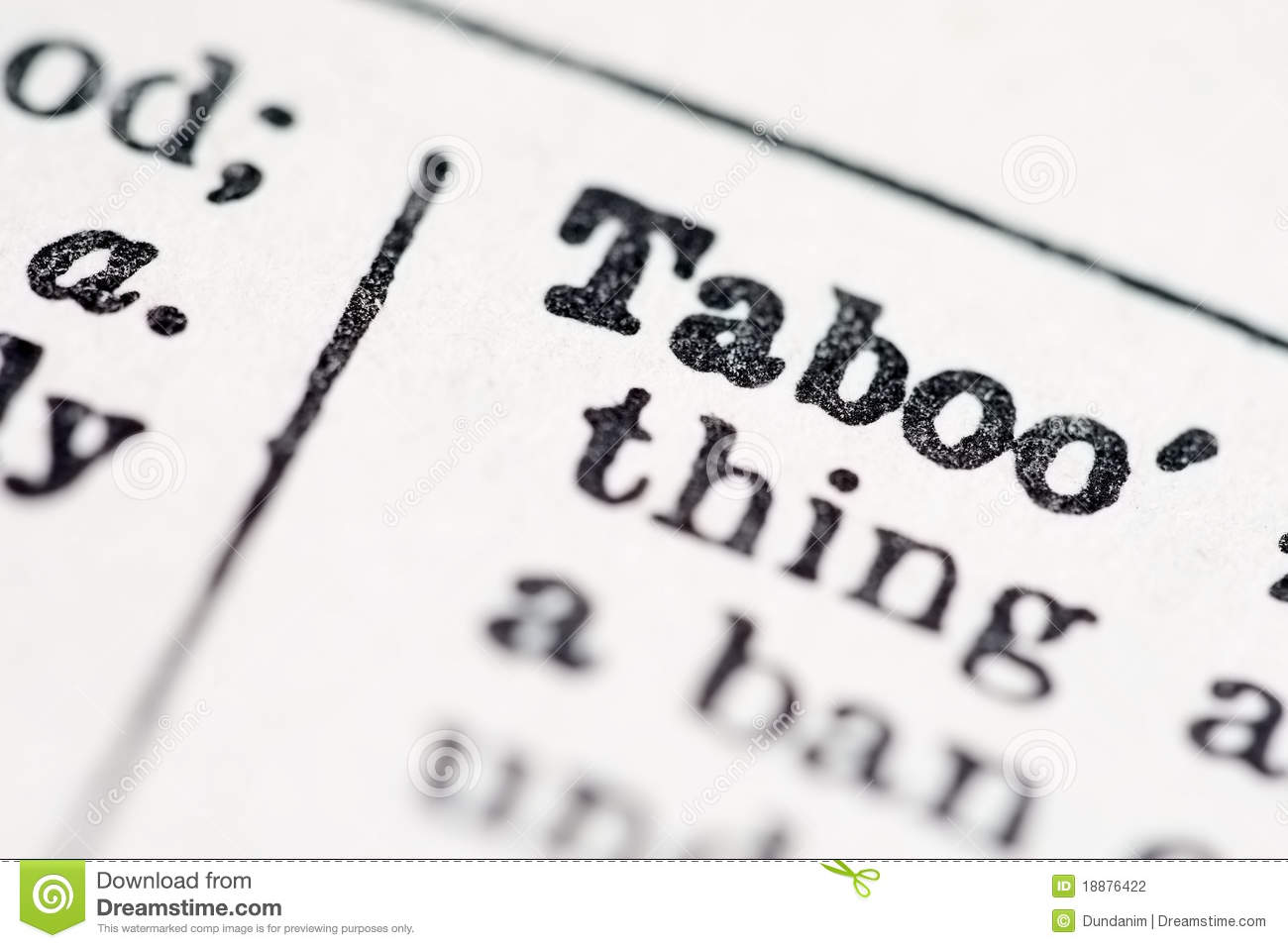 taboo word in dictionary stock photo 18876422 - megapixl