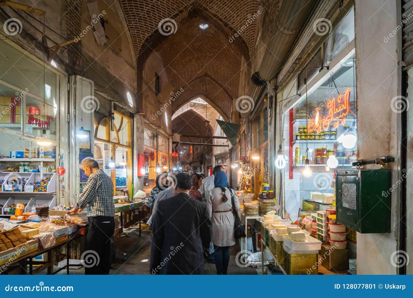 Tabriz Uroczysty bazar w Iran,