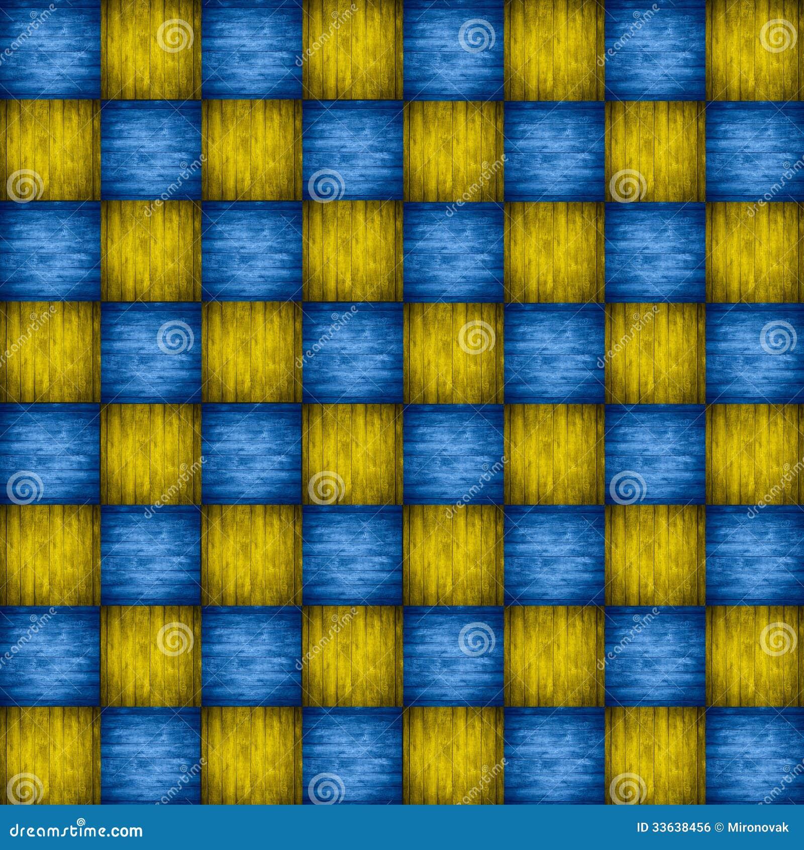 Tabuleiro De Xadrez Azul E Amarelo De Madeira Imagem de Stock Royalty  #C4AB07 1300x1390 Banheiro Azul E Amarelo